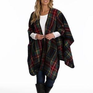 Woolrich Blanket Wrap • Multi Color Plaid Print